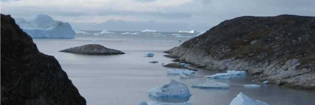 Fjord and icebergs (Ilulissat, Greenland)