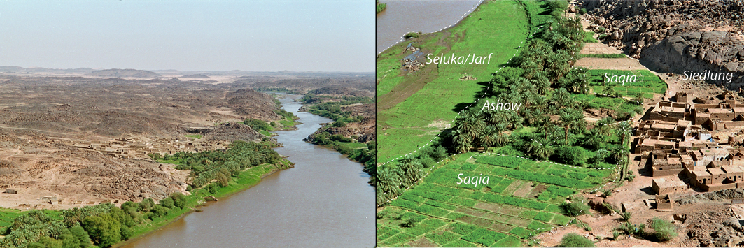 View along the Nile-valley / Land use types on Boni Island