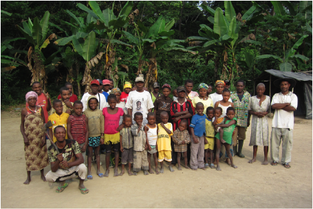 Some of the Baka in Adjab, Gabon, July 2011